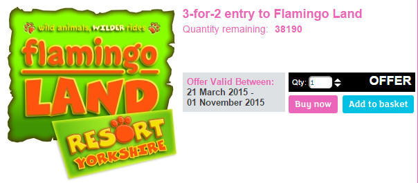 cheap flamingo land entry discount code