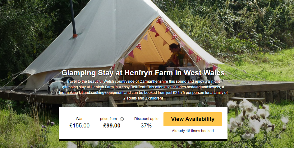 CHEAP GLAMPING IN WALES