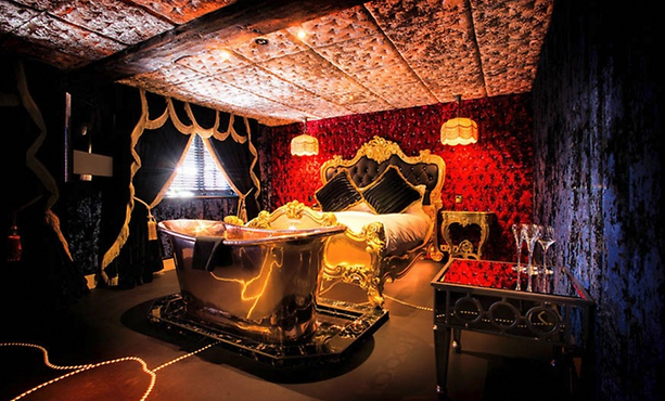 luxurious crazy bear stay with 3 course meal   champagne