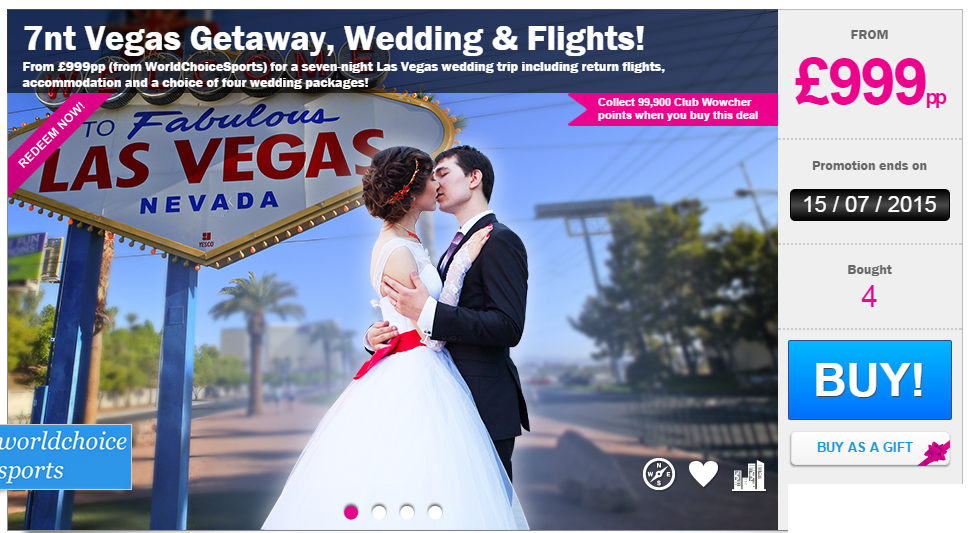 Las Vegas Wedding Package With Flights Amp Ceremony Just GBP999 SunshineStacey