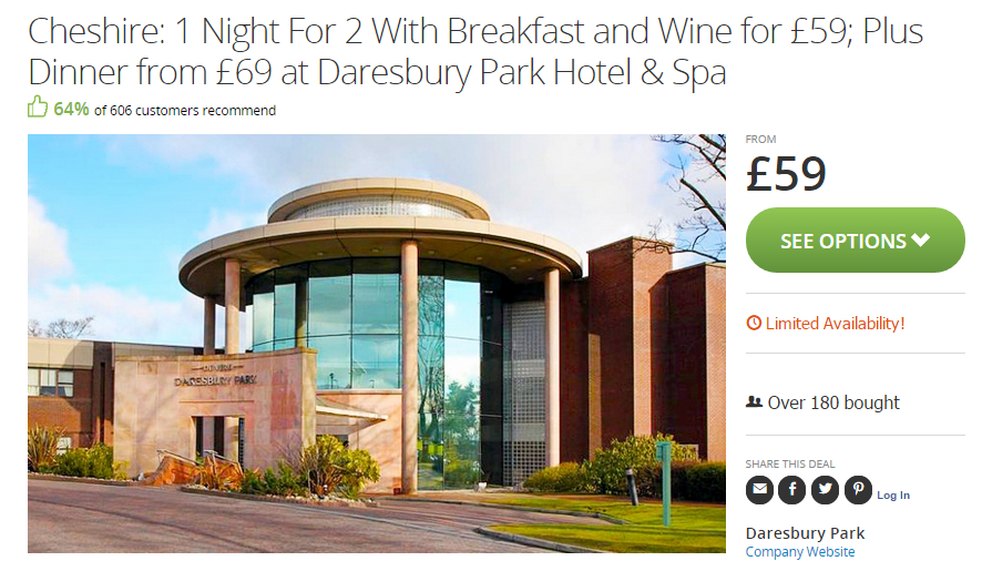 Chester Spa Hotel Deals