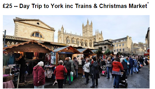 Christmas market trip to york with rail tickets just 25 for Christmas trips to new york