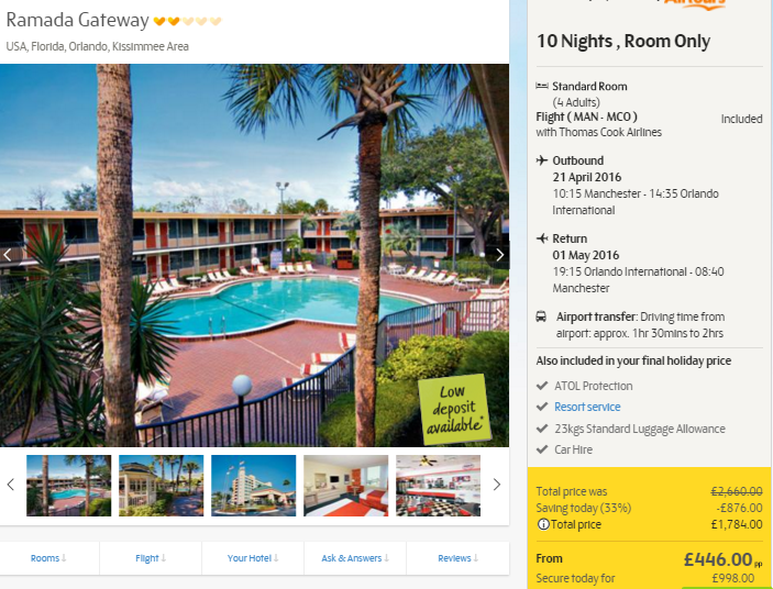 Florida Hotel Package Deals