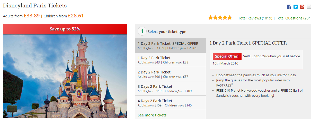 Disneyland Paris tickets can be bought regardless of the country you are currently in, you do not have to be in/from the United Kingdom. Do not worry, this website is absolutely official, I have bought my ticket to Disneyland through the site 3 times for myself and many more for my friends! Tickets are cheaper there sometimes, not all the times.