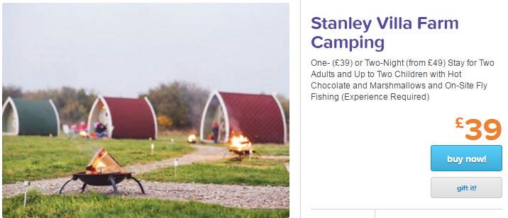 Cheap Glamping Blackpool just £39 (For up to 4 x People