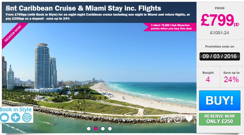 8 Night Caribbean Cruise With Miami Stay Amp Flights Just 163