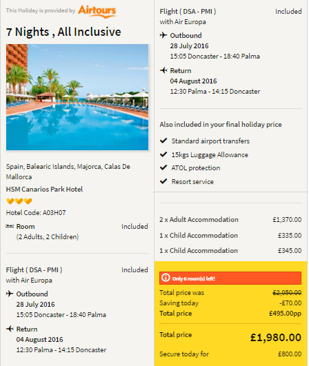 Summer Holidays All Inclusive Package Holiday To Majorca