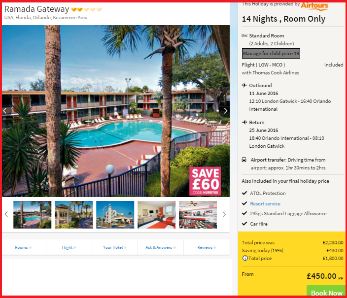 Orlando Cheap Hotel Rates