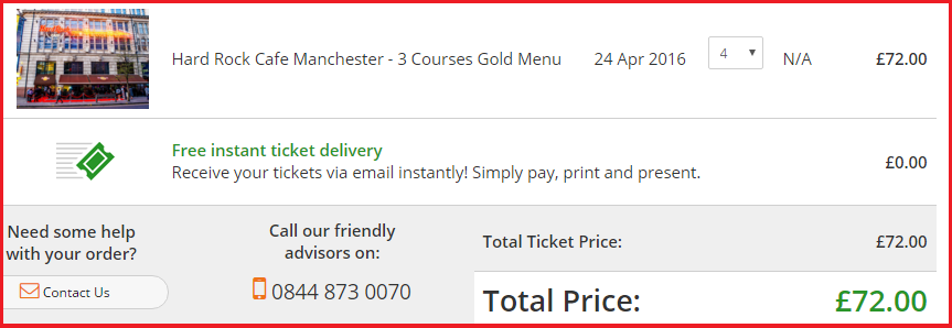 Hard Rock Cafe Manchester Email Address