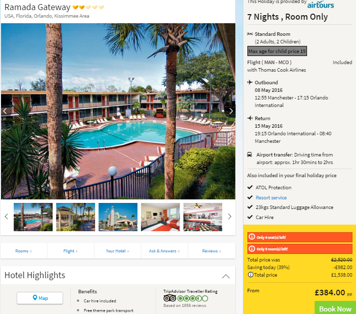 Last Minute Cheap Holiday To Florida Just £384 Each