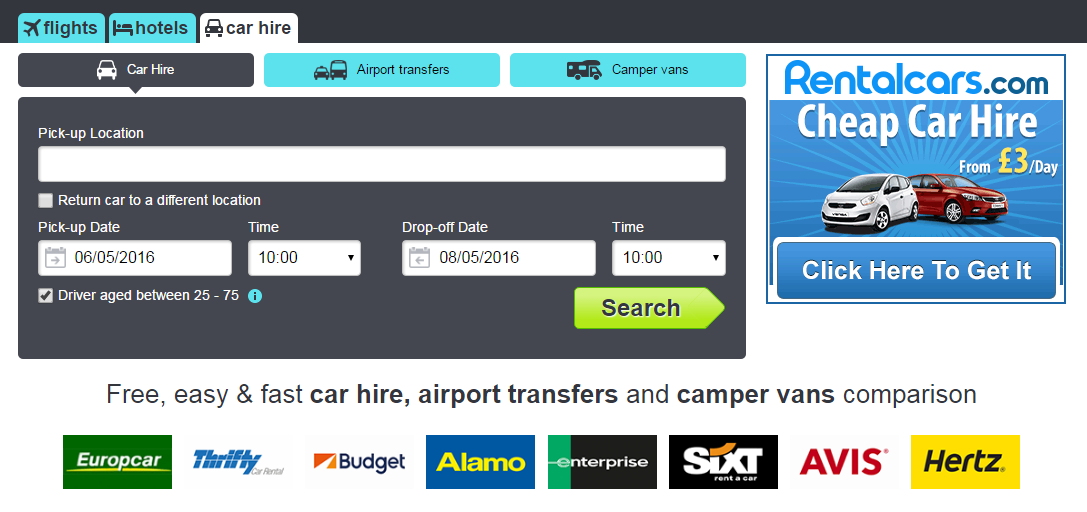 Car Hire Uk To Europe And Back