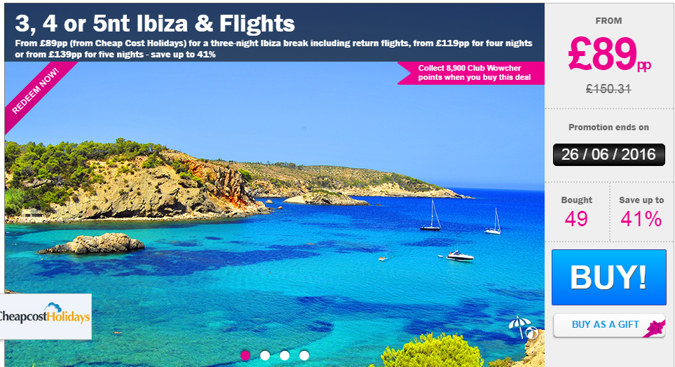Cheap Break To Ibiza With Flights Just 163 89 Each
