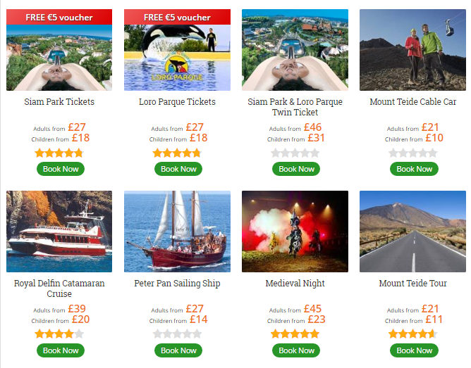 Tenerife Attraction Tickets