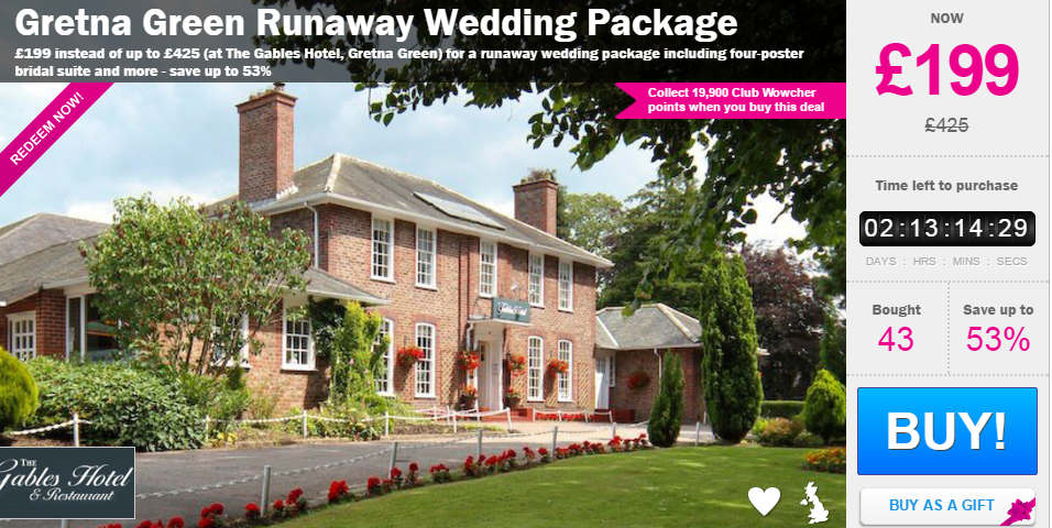 gretna green runaway wedding package just 163199