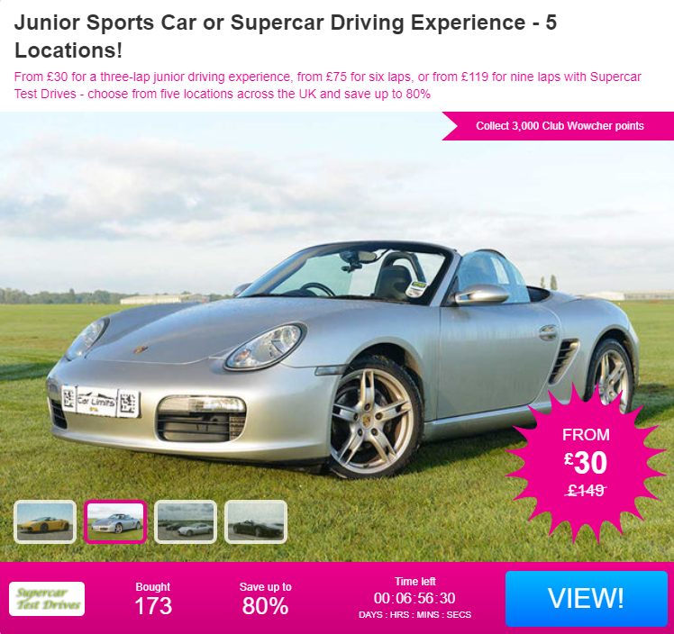 Christmas Gift Idea: Junior Sports Car Driving Experience ...