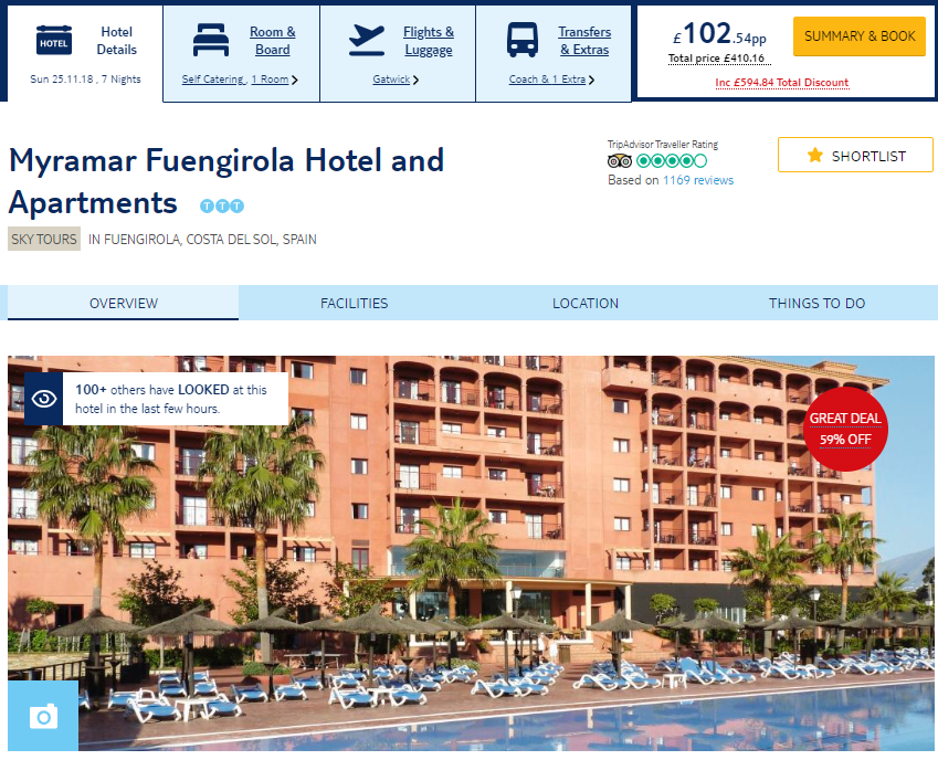 Cheap Package Holiday To Costa Del Sol For 7 Nights Just
